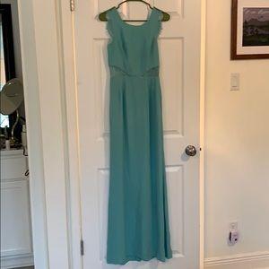 BCBGMaxAzria lace back gown